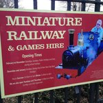Miniature railway sign