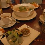 spring roll and soup