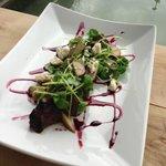 Hangar Steak, with olives & feta
