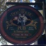 Sign for Dog House Pub