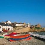 Moelfre fishing village Anglesey Coastal Path