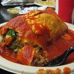Carne asada wet burrito.
