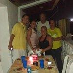 Balcon, cena italiana con John, Caro y nuevos amigos