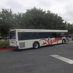 Courtesy shuttle bus to and from parks