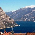 Capo Reamol, just there where the mountain touches the lake garda.