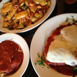 Stuffed Rigatoni and Chicken Parmigiana