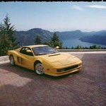 Our Ferrari with our amazing view