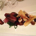 Venison and Parsnip with Blackberry and Chocolate sauce