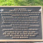 Alex Madonna Memorial plaque