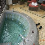 Jacuzzi on huge balcony
