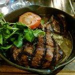 Steak at the River Bar
