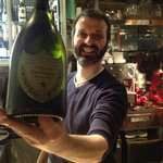 Gianluca offers Dom Perignon