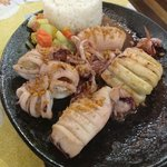 sizzling squid for hubby