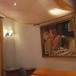ベッドルームの天井