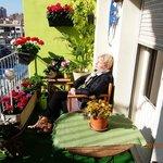 relaxen op het balkon