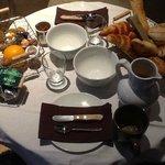 Un magnifique petit déjeuner plus que copieux
