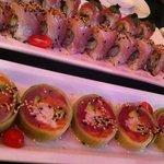 Lower row: Tuna Salmon CC Roll