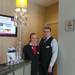 Friendly staff Ekaterina and Yakov