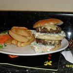 The half pound burger (no desert that night!).