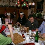 Christmas dinner with the other guests at FD