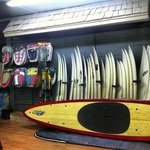 Tons of surfboards!