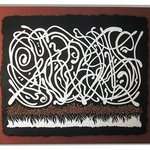 Magnum Opus bas-relief mixed media by Pam Foss