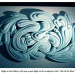 """Out of the Blue Styrofoam relief 72"""" by 45"""" Pam Foss"""