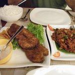 Fresh Fish fry and Seafood