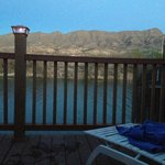 View of the Rio Grande at Sunset from Private Soak Tub