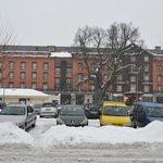 Vue de face sous la neige