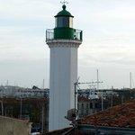 Le phare du quai Valin depuis la chambre