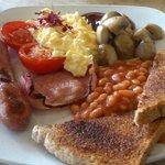Regular girl sized breakfast