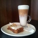 Homemade Carrot Cake & a Latte. Mmmm....delicious!!