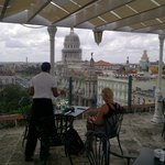 Roof terrace lunch