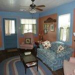 Magenta cottage living room