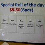 the specialty rolls are yummy and huge