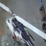 A news helicopter is one of several authentic exhibits that show what it's like to cover the new