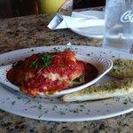 Roasted garlic chicken lasagna
