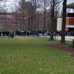 standing in line outside Patriot Center for Green Day