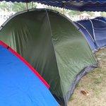 Camping at public beach