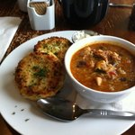 Fish cakes and Shrimp Gumbo