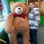 My son and a huge bear!