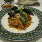 Plato principal: Spaghetti al pomodoro y basilico