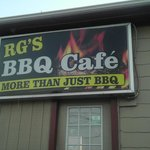 The updated RG's sign at the former BBQ House. Look closely to see a little TripAdvisor in the d