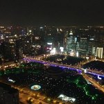 shanghai at night from 60th floor