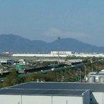 かすかに富士山が…。