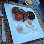 Bacon N Egg Breakfast with sunny side eggs