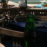 Cold beer after surf, still pumping.....