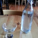 Water served with simplicity at Gratitude