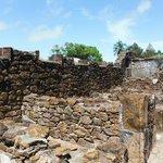 Prison ruins next to hotel